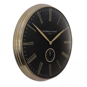 Greenwich Timekeeper Grand Clock Brass Black 28 in