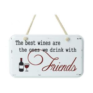 The Best Wines Metal Sign