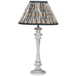 Table Lamp Wash Wood Ikat Shade