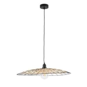 Ceiling Lamp Filen Natural/Black Rattan/Iron
