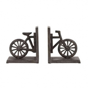 Bookends Bicycle Campagne Brown Cast Iron