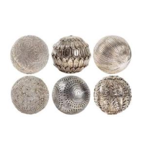 Ball Deco Ethniques Bronze Polyresin S/6