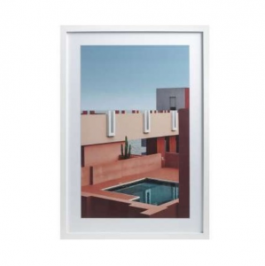 Pool Gallery White Print Frame