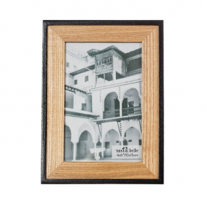 Black & Natural Wood Frame