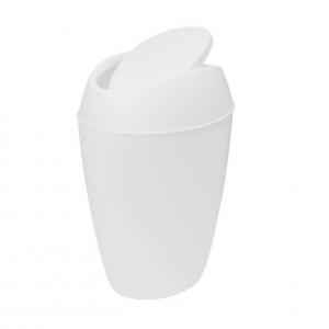 Twirla Trash Can Metallic White