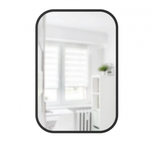 Hub Rectangle Mirror Black