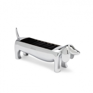 Dachsie Ring Holder Chrome