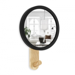 Hub Mirror Hook Black Natural