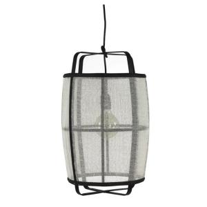 Mien Bamboo Linen Hanging Lamp Small