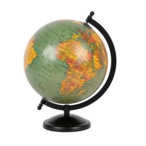 Deco Globe Mappa Green/Black Plastic/Iron