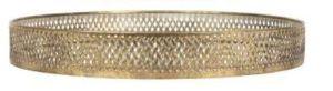 Tray Wouri Gold Iron/Mirror Large