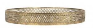 Tray Wouri Gold Iron/Mirror Small