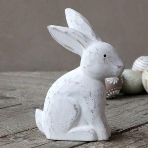 Wooden Rabbit White