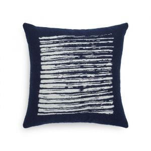 Navy Lines Cushion