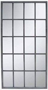 Metal 20 Slot Mirror Grey