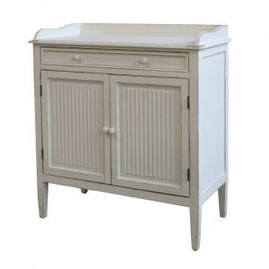 Cabinet With Grooves 2 Doors And 1 Shelf
