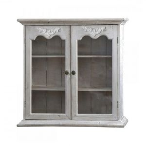 Cabinet For Wall With 2 Glass Doors