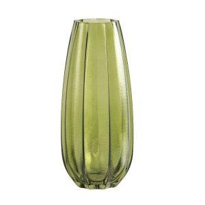 Kali Vase Glass Leaves Tall