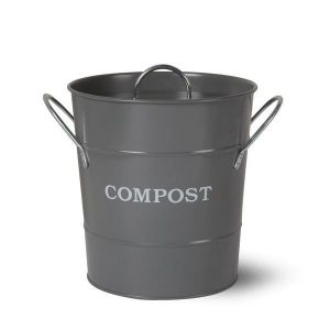 Compost Bucket Steel Charcoal