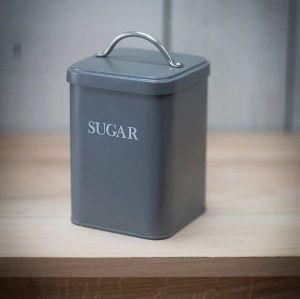 Original Sugar Canister Steel Charcoal