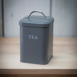 Original Tea Canister Steel Charcoal