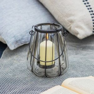 Adlestrop Lantern Metal Glass Small