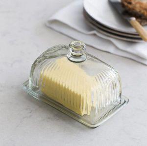 Cornbury Butter Dish Glass