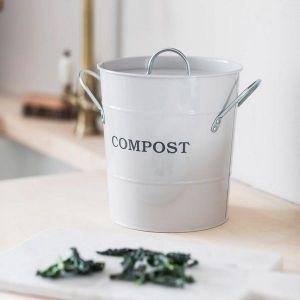 Compost Bucket Steel Chalk
