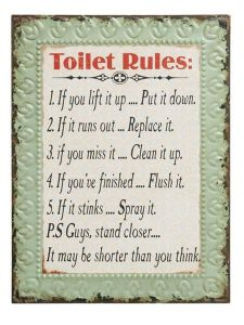Sign Toilet Rules