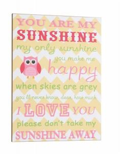 Sign You Are My Sunshine