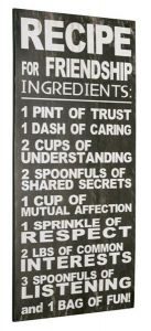 Sign Recipe For Friendship