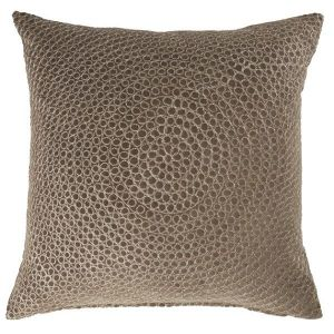 Velour Cushion With Rings Olive