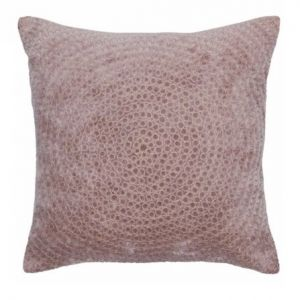 Velour Cushion With Rings Old Rose