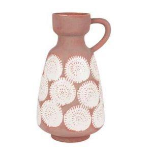 Vase Calci Pink White Large