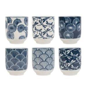 Porcelain Tumbler Owari Blue White S6
