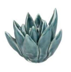 Deco Flower Ortelain Aquamarine Ocean Blue