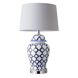 Blue & White Table Lamp