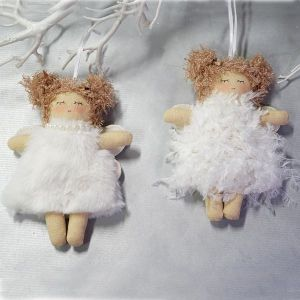 Hanging Angel - Fur dress