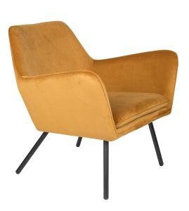 Bon Velvet Lounge Chair - Gold