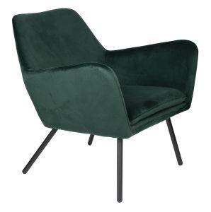 Bon Velvet Lounge Chair - Green