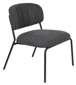 Jolien Lounge Chair - Black/Dark Grey