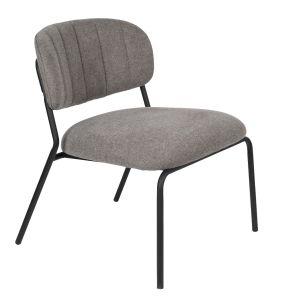Jolien Lounge Chair - Black/Grey