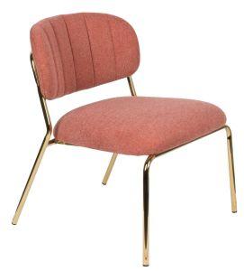 Jolien Lounge Chair - Gold/Pink