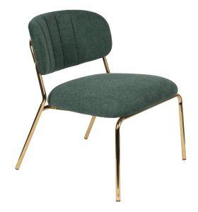 Jolien Lounge Chair - Gold/Dark Green