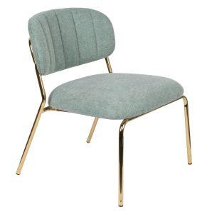 Jolien Lounge Chair - Gold/Light Green