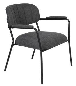 Jolein Lounge Armchair - Black/Dark Grey