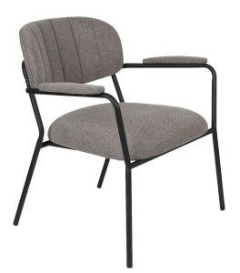 Jolein Lounge Armchair - Black/Grey