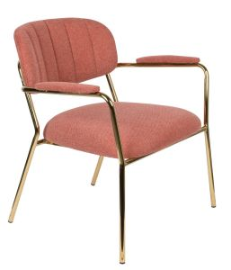 Jolein Lounge Armchair - Gold/Pink