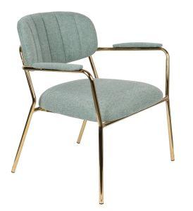 Jolein Lounge Armchair - Gold/Light Green
