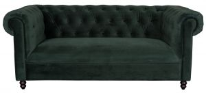 Chester Sofa - Velvet Dark Green